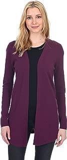 State Fusio Women's Wool Cashmere Soft Shaker-Stitch Open Cardigan Sweater Premium Quality