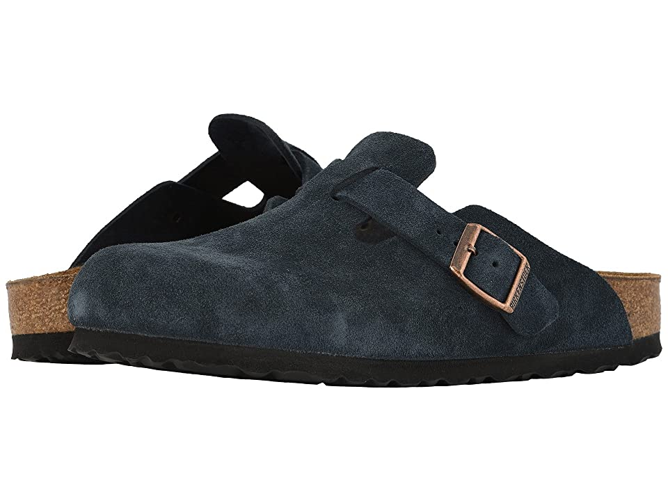 Birkenstock Boston Soft Footbed (Unisex) (Navy Suede) Clog Shoes