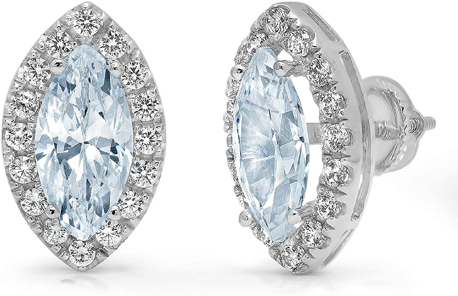 Max 42% OFF Outlet SALE Clara Pucci 3.64 ct Brilliant Cut Halo Solitaire Round Marquise