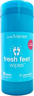 Fresh Feet Wipes - Peppermint - 45 Wipe Canister - All Natural by Jasmine Seven