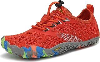 SAGUARO Chaussures de Trail Running Enfants Chaussures Minimalistes Antidérapantes Respirantes pour Garçons et Filles
