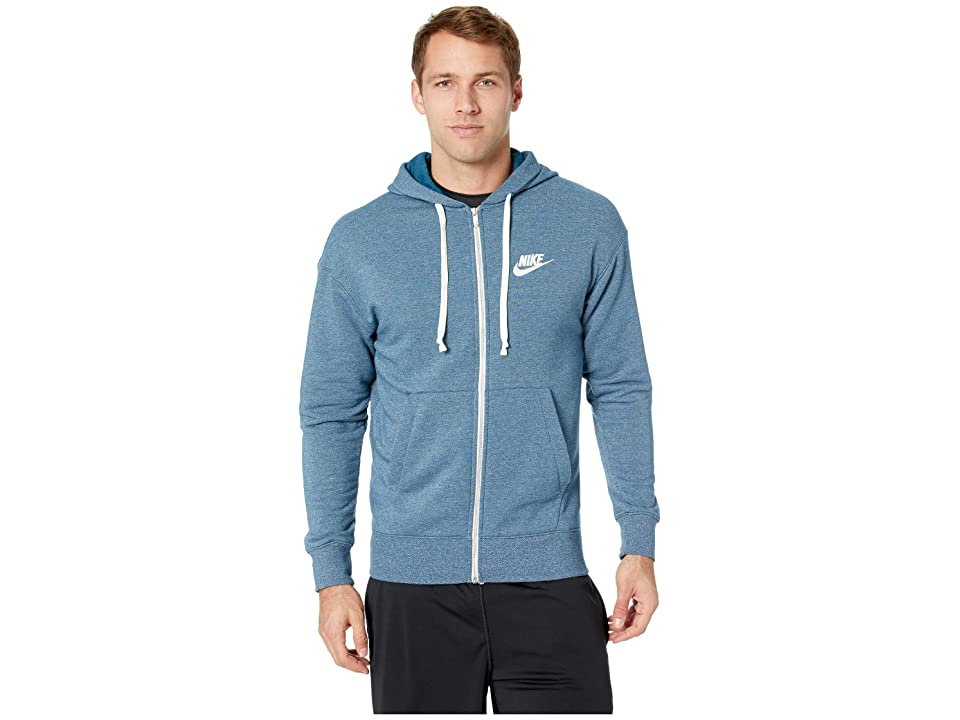 Nike NSW Heritage Hoodie Full Zip (Blue Force/Heather/Sail) Men
