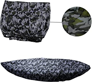 MAYMII 2.6m-6m/7.8-18ft,7 Sizes, 9 Color Durable Kayak Cover Canoe Cockpit Dust Cover, Waterproof UV Sunblock Shield Protector for Fishing Boat,Kayak,Canoe,Paddle Board