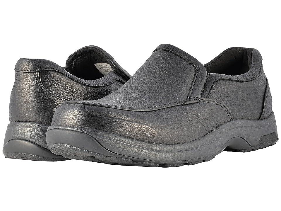 Dunham Battery Park Slip-On (Black Polished Leather) Men