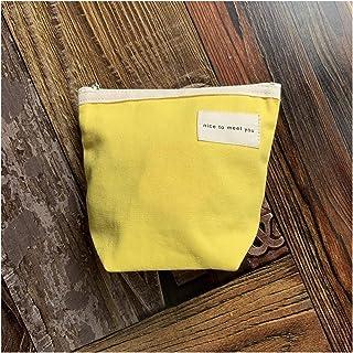 LYLY LYLY Make-up-Tasche Kosmetiktasche für Damen, Segeltuch, Make-up, Lippenstift, Aufbewahrungstasche, tragbare Tasche für Frauen, Make-up-Taschen, Kosmetiktasche Farbe: gelb