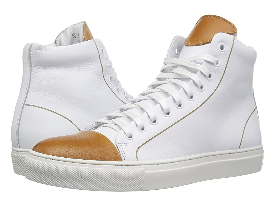 Kenneth Cole New York Hensley High (White/Cognac) Men