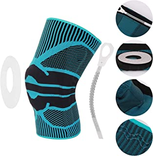 Sports Knee Support, Knee Support, Knee Protection, Pain Relief and Knee Stability Support, Flexibility, Comfort, Breathability and Washable Knit Fabric (Thickness Protection) (M, Blue)