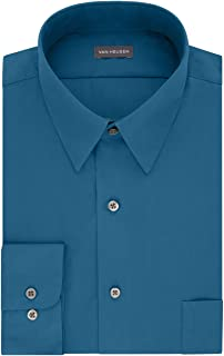Van Heusen Men's Dress Shirt Fitted Poplin Solid