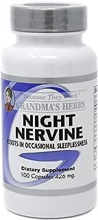 Night Nervine - Herbal Formula for Better Sleep & Relaxation - 100 Capsules