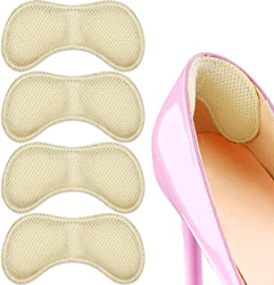Freewalk 4Pairs Heel Grips Pads Heel Cushions Liners Inserts for Men Women Shoes Too Big, Preventing Heel Rubbing Blister