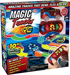 Sponsored Ad - Ontel Magic Tracks RC - Remote Control Turbo Race Cars & 10 ft of Flexible, Bendable Glow in the Dark Racet...