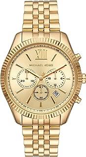 Michael Kors Women's Lexington Quartz Watch with Stainless Steel Strap, Gold, 18 (Model: MK6709)