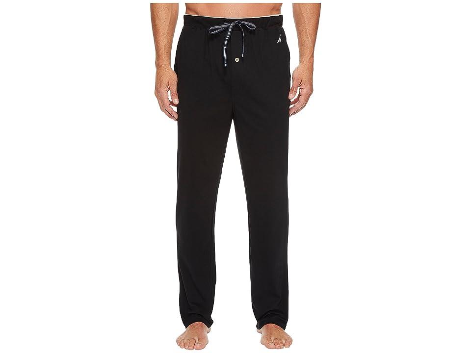 Nautica Knit Sleep Pants (True Black) Men