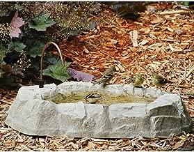 Birds Choice Rocky Mountain Ground Level Bird Bath with Dripper Tube