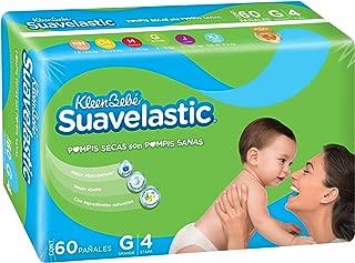 KleenBebé Suavelastic, Pañales Unisex, Grande, 60 Piezas