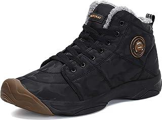 Mishansha Homme Bottes Hiver Neige Légère Chaussures de Doublé Chaud Mode Bottes de Randonnéé
