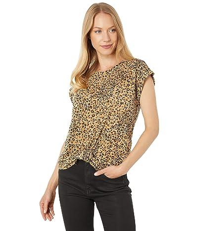 Vince Camuto Short Sleeve Extend Shoulder Trop Feline Print