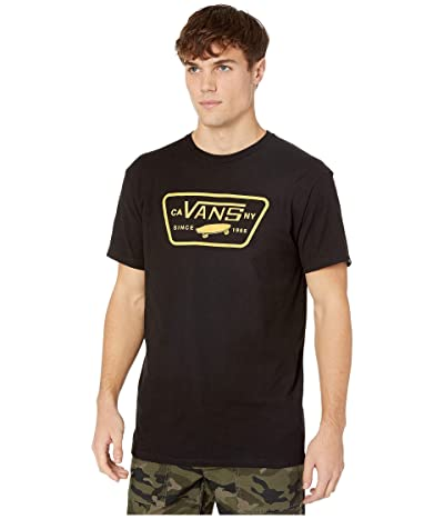 Vans Full Patch T-Shirt (Black/Old Gold) Men