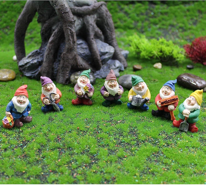 Sales 7 Luxury goods PCS Mini Garden Dwarfs Garde Gnome Fairy Statue