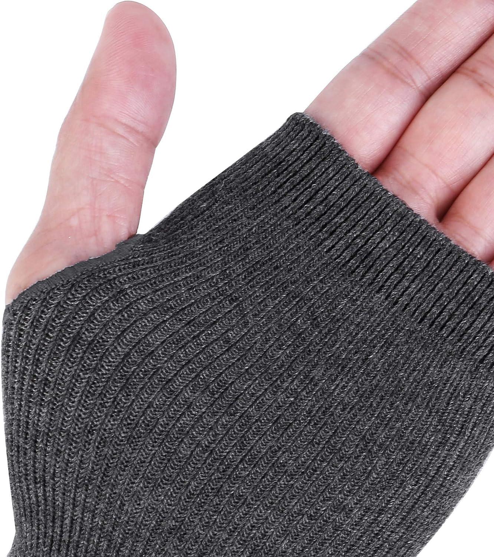 Ayliss Women Arm Warmer Stretchy Cotton Long Sleeve Fingerless Thumb Hole Gloves