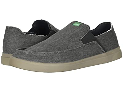 Sanuk Pick Pocket Slip-On Sneaker (Dark Charcoal) Men