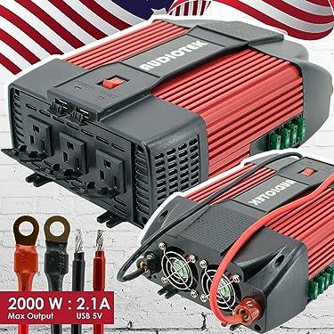 Audiotek 2000W Watt Power Inverter DC 12V AC 110V Car Converter USB Port Charger