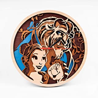 Best beauty and the beast wooden clock Reviews