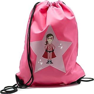 | Gymsac Premium | Mochila Impermeable | Super Girl Héroe | Medidas 45 x 33 cm | Capacidad 11 L | Peso 85 gr | Poliéster 210D | Color rosa brillante | Diseñado con Amor en España