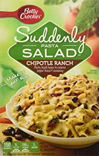 Betty Crocker, Suddenly Salad, Pasta Chipotle Ranch, 5.9oz Box (Pack of 4)