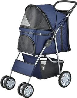 73x46x100cm Impermeable Roadster con Cesta para Guardar Objetos para Empujar /® Carrito para Mascotas Hundebuggy Pet Stroller pro.tec Azul