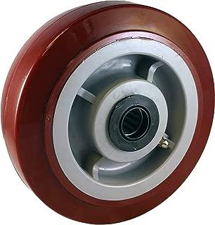 "CasterHQ 8"" X 2"" Premium Polyurethane ON POLYOLEFIN CORE - 1000 lbs Cap - Replacement Caster Wheel - 8 inch x 2 inch - Industrial/Commercial Application - Medium/Heavy Duty Caster Wheel"