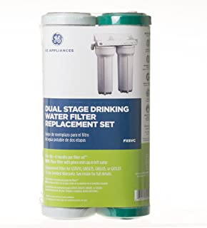 GE SmartWater FXSVC Dual Stage Drinking Water Replacement Filter, 10.00 x 2.00 x 2.00 inches