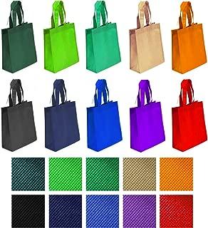 Non-woven Reusable Tote Bags, Heavy Duty Non-woven Polypropylene, Small Gift Tote Bag, Book Bag, Non Woven Bag Multipurpose Art Craft Screen Print School Bag (Assorted Color, Set of 100 (1BOX))