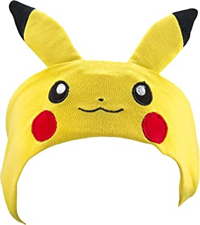 Pokemon Pikachu Kids Headband Headphones Volume Limiting Switch Thin Speakers & Comfortable Soft Cotton Headband Perfect for Children's Earphones for School Home and Travel (Standard Packaging)