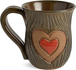 MudWorks Pottery Carved Heart Mug