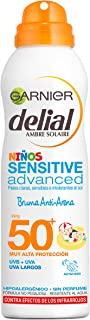 Garnier Delial Niños Sensitive Advanced Spray Protector Solar Anti-Arena para Pieles Claras Sensibles Alta Protección IP...