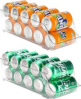 Puricon Frigo 2 Pièces pour Boisson, Soda, Coca Cola, Bière, Organisateur de Réfrigérateur, Tiroir Distributeur de Canettes