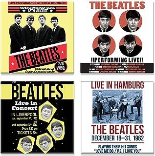 The Beatles 4 X Fridge Magnet Live In Concert Various Designs Official Set