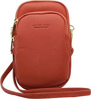 Uche Lightweight Roomy Pockets Small Crossbody bag Cell Phone Purses Wallet for Women