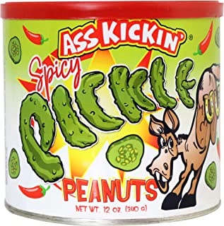 Sponsored Ad - Kickin' Spicy Pickle Peanuts - Perfect Premium Gourmet Spicy Hot Peanuts Snack Pack - Dry Roasted Peanuts w...