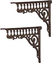 Wandhoek wandhouder boekenrek plankdrager set gietijzer Italia antieke stijl Moritz