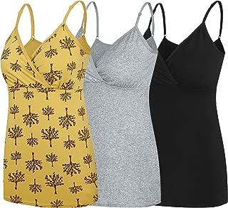 Nursing Tops Tank Shirt Cami Sleep Bra for Maternity and Breastfeeding 3PCS/Pack
