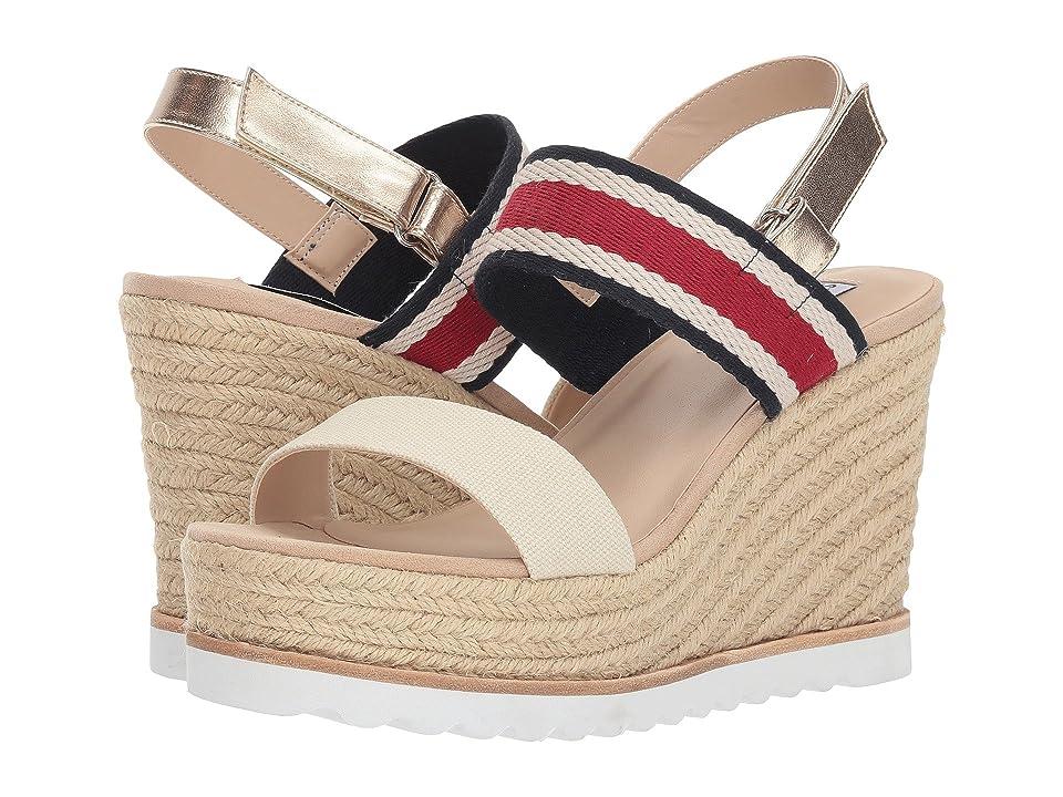 5536b770582 Steve Madden Verdes Espadrille Wedge Sandal (White Multi) Women