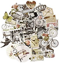 FaCraft Scrapbook Ephemera Vintage Scrapbooking Supplies Embellishments Die-Cut Pack Old-Time and Happy Day50 Pieces Assor...