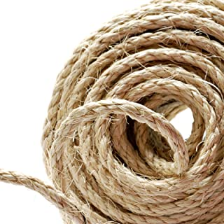 Cuerda de cáñamo Naler de 25 m 6 mm, 100% yute natural, 4
