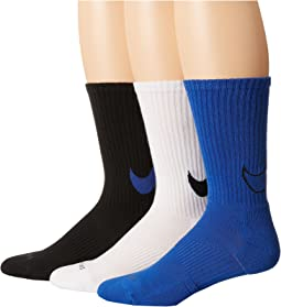 Dri-FIT Cotton Swoosh Crew 3-Pair Pack