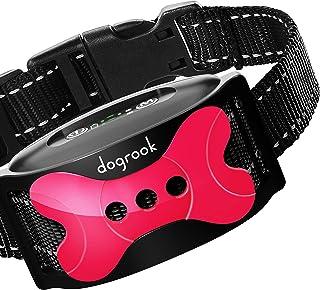 DogRook Rechargeable Dog Bark Collar - Humane, No Shock Barking Collar - w/2 Vibration & Beep Modes - Small, Medium, Large...