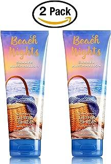 Bath Body Works Set of 2 Beach Nights Summer Marshmallow Body Creams 8 Ounce Each