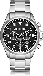 Michael Kors Men's Gage Silver-Tone Watch MK8413