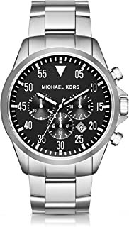 Men's Gage Silver-Tone Watch MK8413